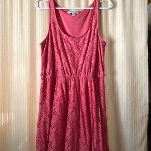 Lauren Conrad Coral Lace dress